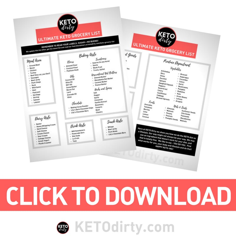 Click to Download a Free Printable Keto Grocery List PDF
