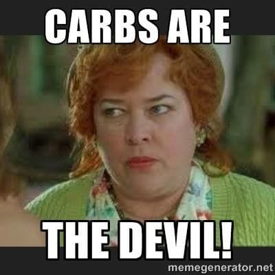kathy bates saying carbs are the devil