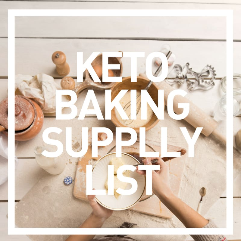 baking supply list for keto foods