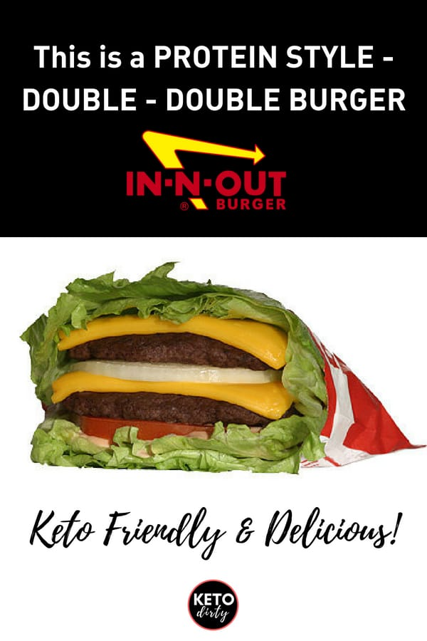 photo of a double cheese burger in n out keto friendly