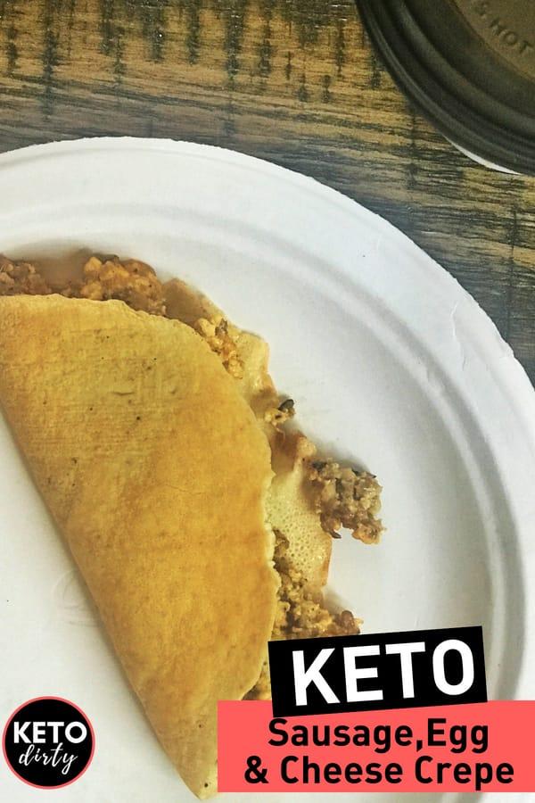 Keto sausage crepes with bulletproof coffee