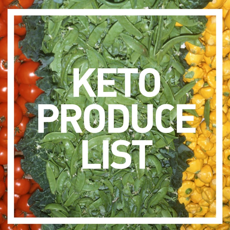 keto produce grocery list - features photo of fresh low carb vegetables
