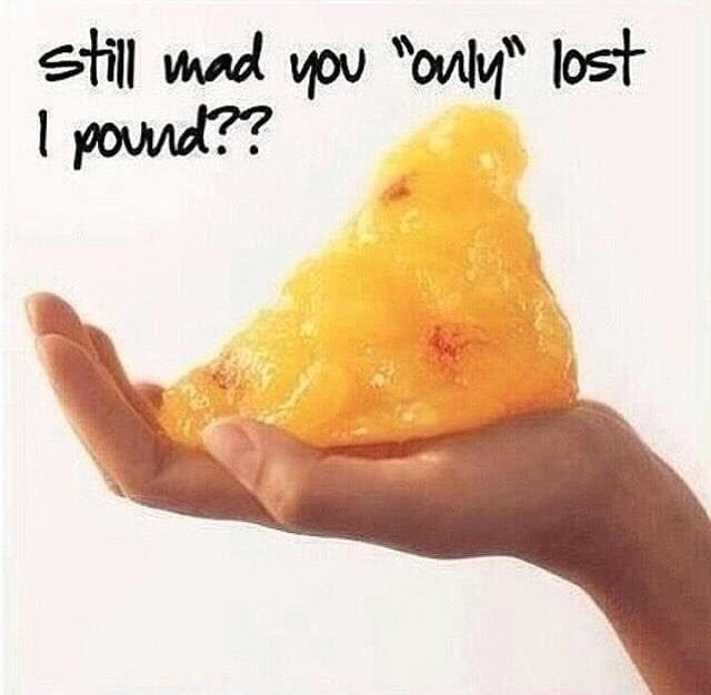 image showing what one pound of fat looks like