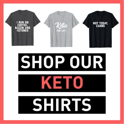 KETO shirts featuring 3 funny ketogenic diet shirts