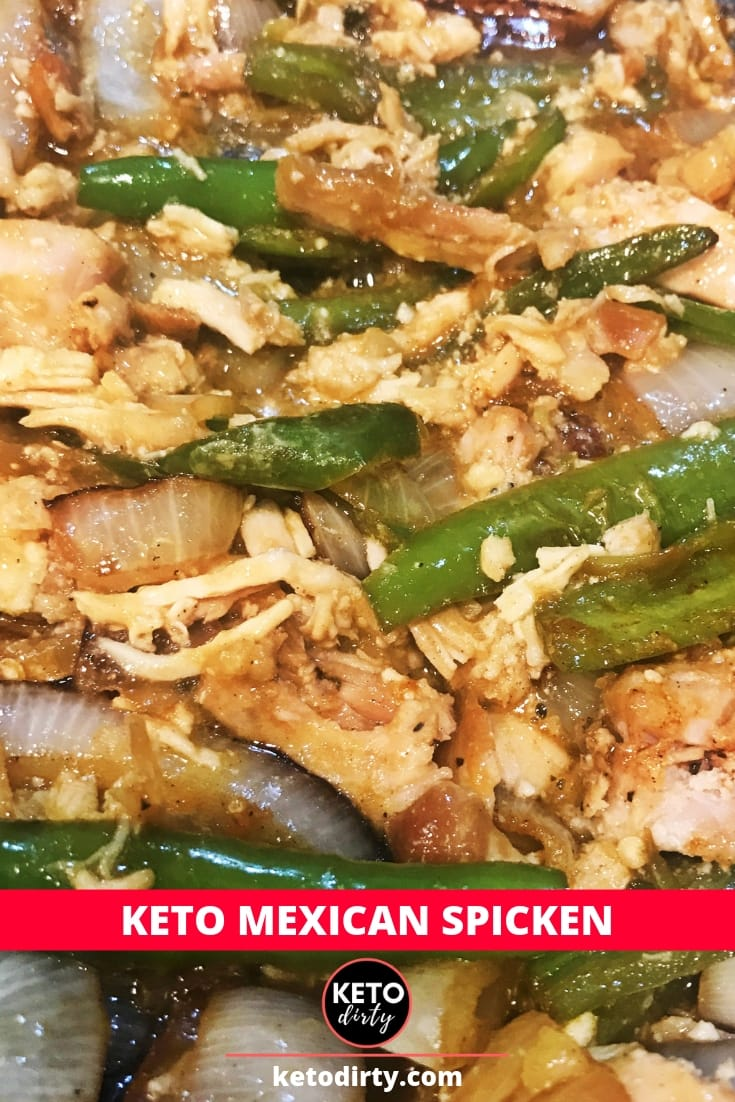keto mexican spicken chicken peppers onions