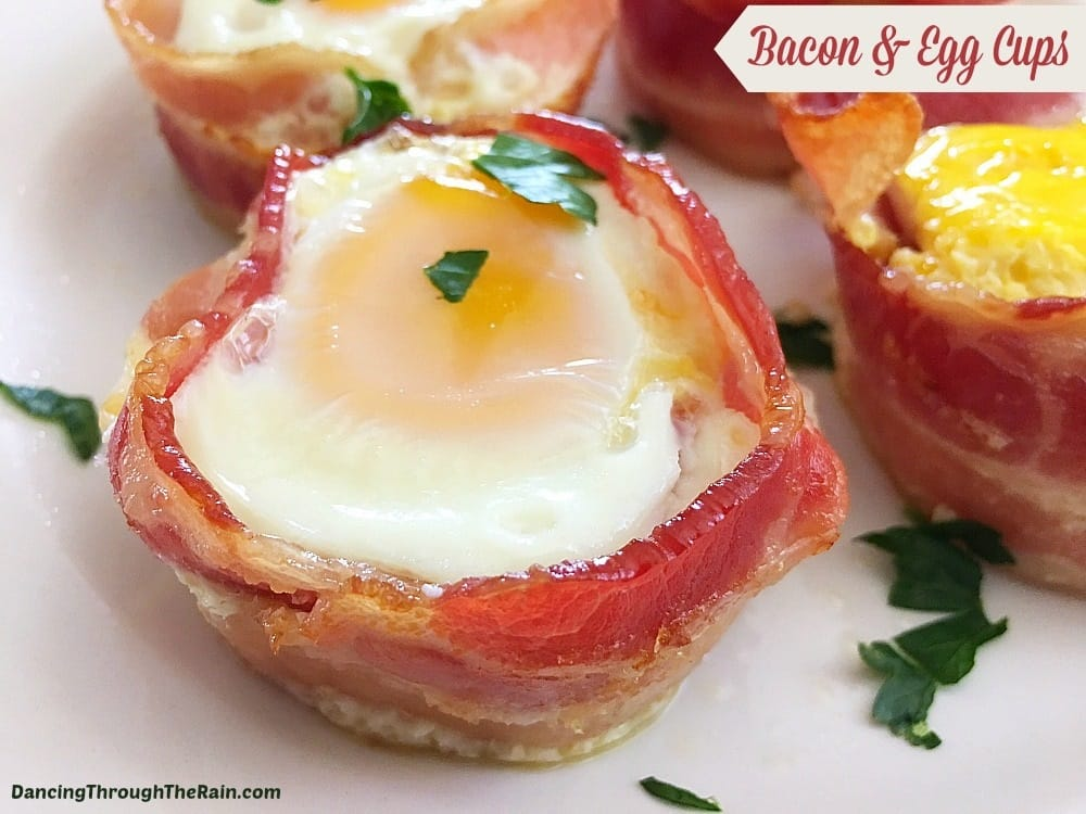 low carb breakfast bacon egg cups