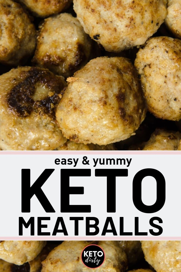 Enjoy these easy KETO meatballs recipe. In addition to being super easy, these tasty treats works great for meal planning and for snacking on!  #keto #ketodiet #meatballs #lowcarb