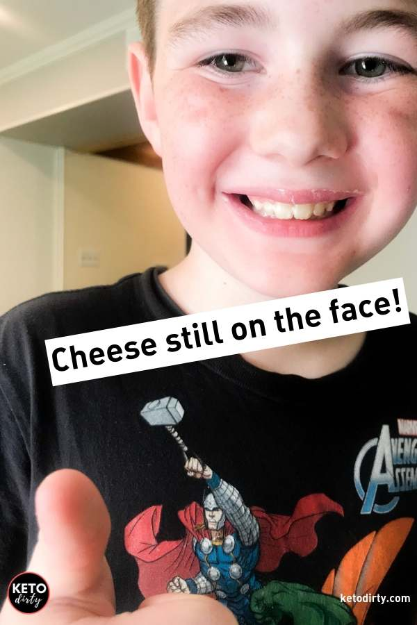 kid keto food smiling cheese on face