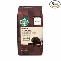 Starbucks Mocha Flavored Ground Coffee, 11-Ounce Bag (Pack of 6)