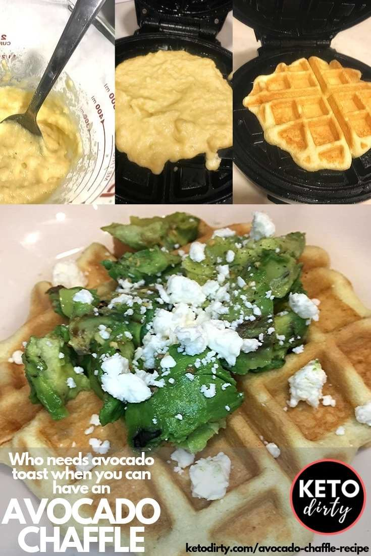 ust because you are on the keto diet does not mean that you can't eat good food! If you are a sucker for avocado toast, this low carb recipe is for you. We have married 2 of our favorites and created the Avocado chaffle. This isn't your average chaffle recipe - this low carb waffle is topped with all kinds of delicious! Even our carb eating family loved this dish. #ketodiet #ketorecipes #lowcarbrecipes #chaffles #avocado #avocadotoast #lowcarb #lowcarbdiet #recipes #bestrecipes #avocadorecipe