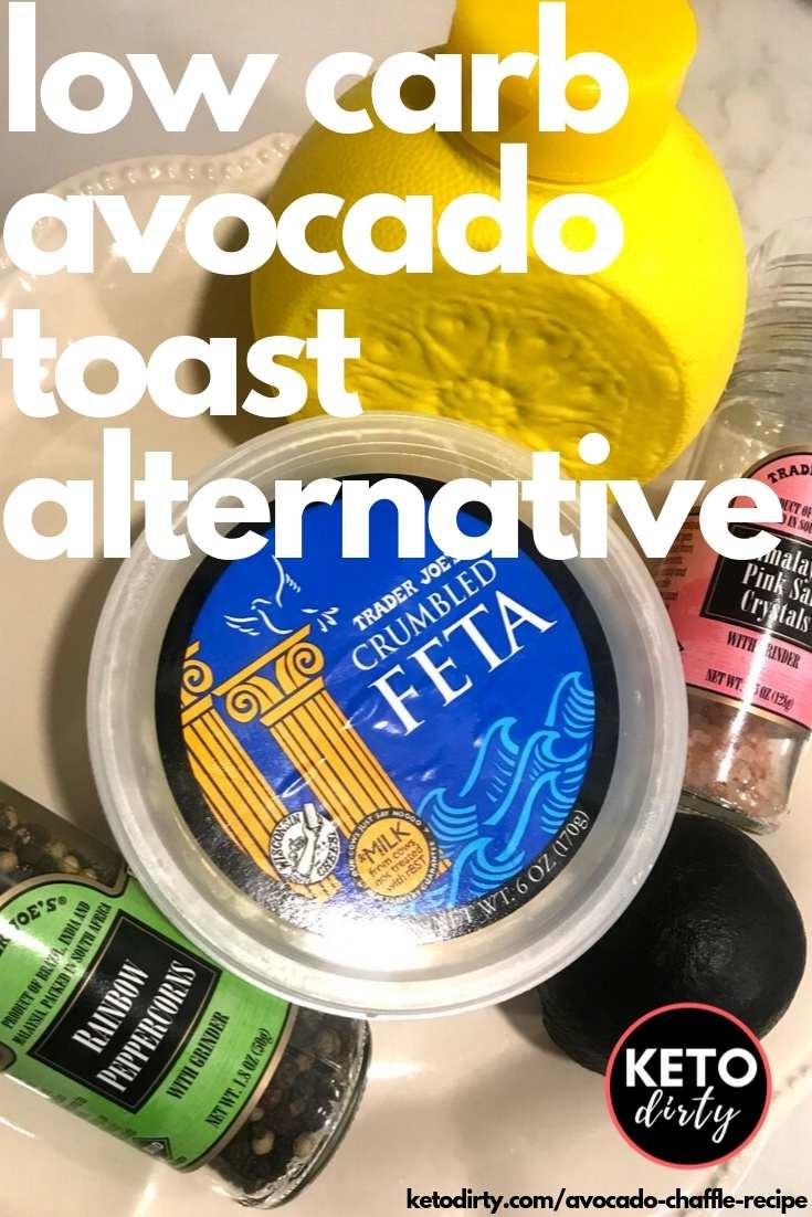 Avocado Chaffle - The Perfect Keto Avocado Toast 1