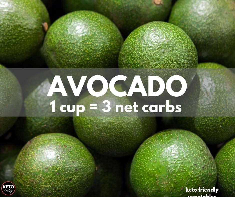 avocado 3 net carbs fruit vegetable keto diet