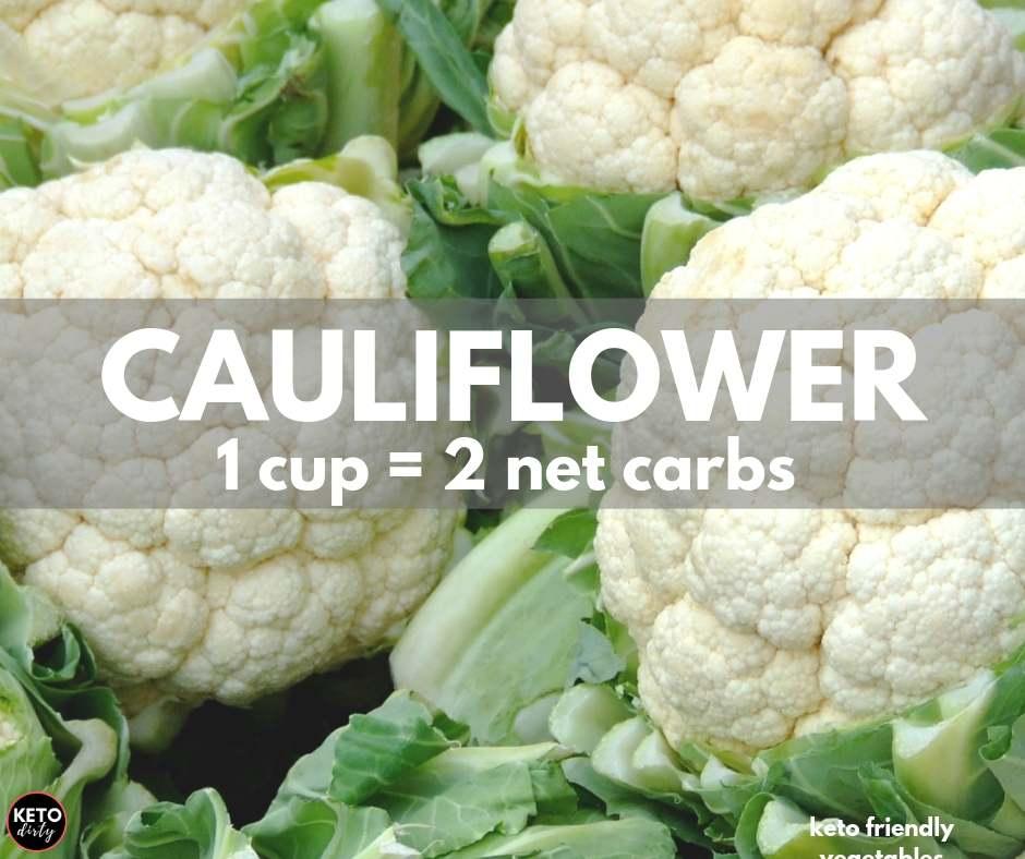 cauliflower 2 net carbs