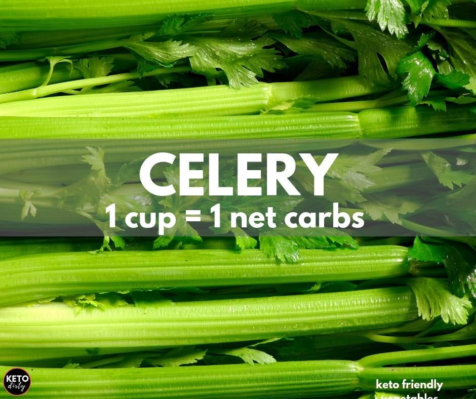 celery 1 net carb keto vegetable