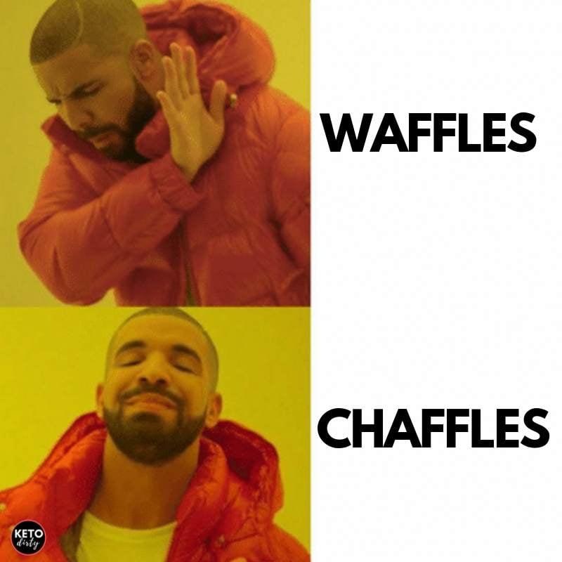 drake chaffle meme