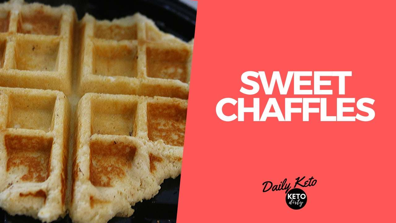 low carb sweet chaffles coconut flour