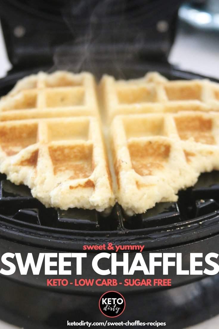 sweet chaffles recipe
