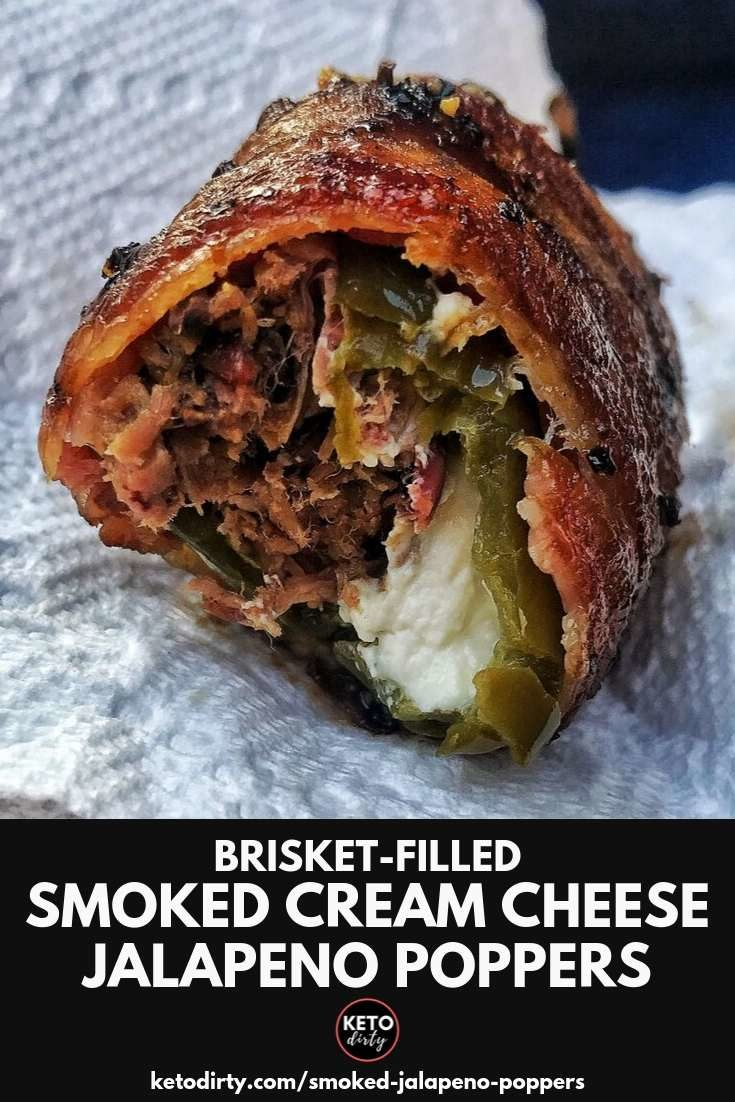 Smoked Jalapeno Poppers Recipe with Brisket and Cream Cheese