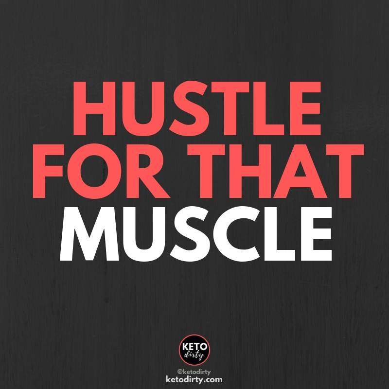 funny gym quotes - hustle for that muscle