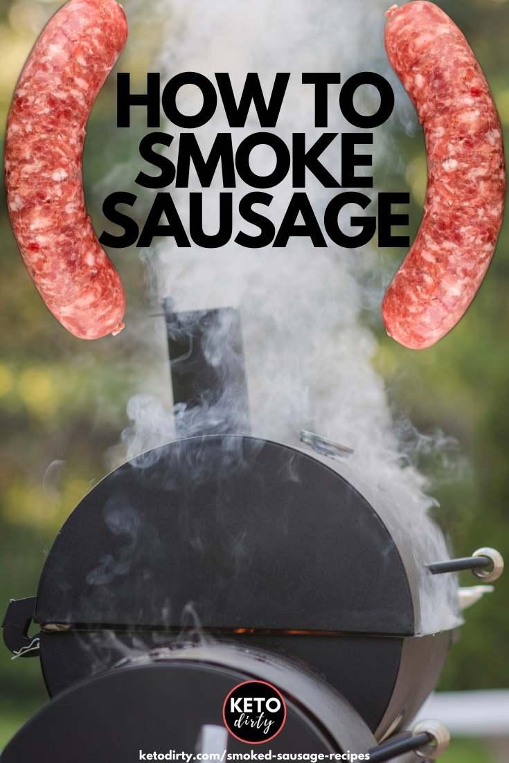 how to smoke sausage