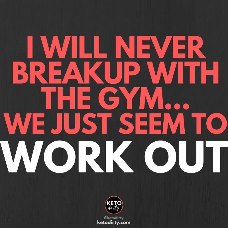 i will never breakup with the gym