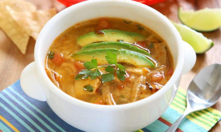 The Best Low-Carb Keto Chicken Tortilla Soup Recipe