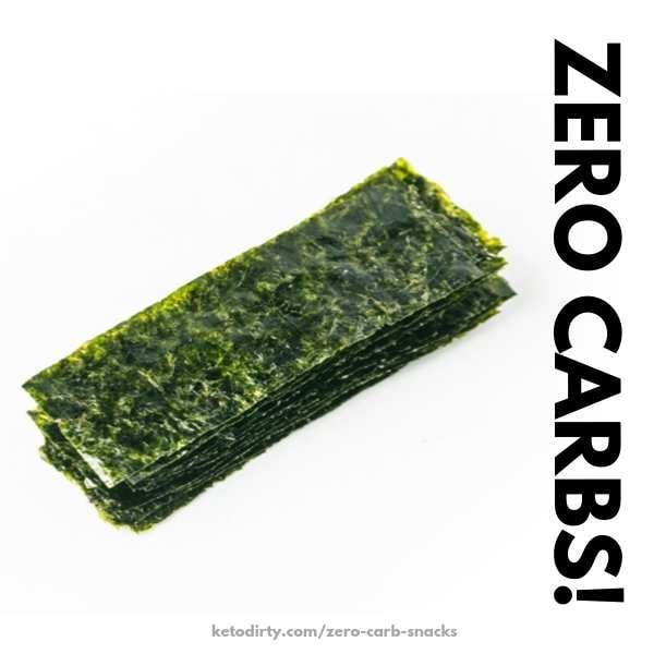 no carb seaweed snack