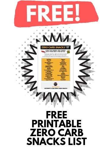 free download zero carb snacks list pdf