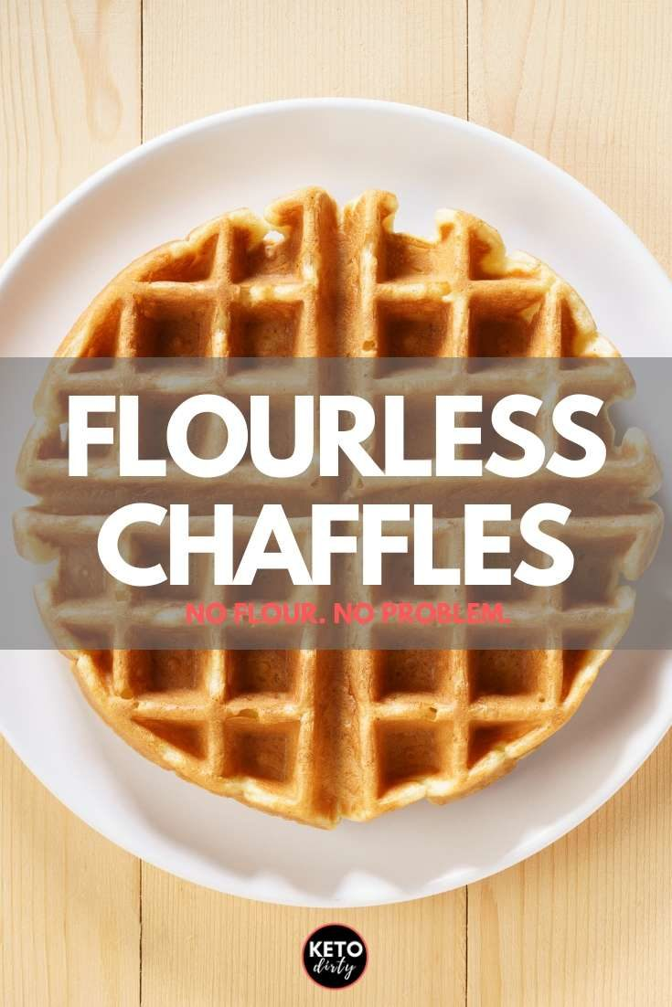 Enjoy this flourless chaffles recipe! You can still get in on the chaffle craze without eating coconut flour or almond flour with this delicious recipe.  These low carb flourless waffles are not only delicious, they are easy to make - in under 5 minutes! Use as bread, eat with bacon, keto diet friendly! #chaffles #chaffle #waffle #ketorecipes #lowcarbrecipes #breakfast #breakfastrecipes #ketodiet #lowcarbdiet #sugarfree
