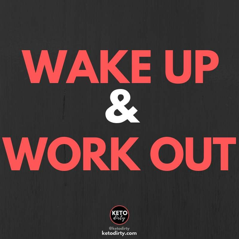 wake up work out - fitness motivation quote