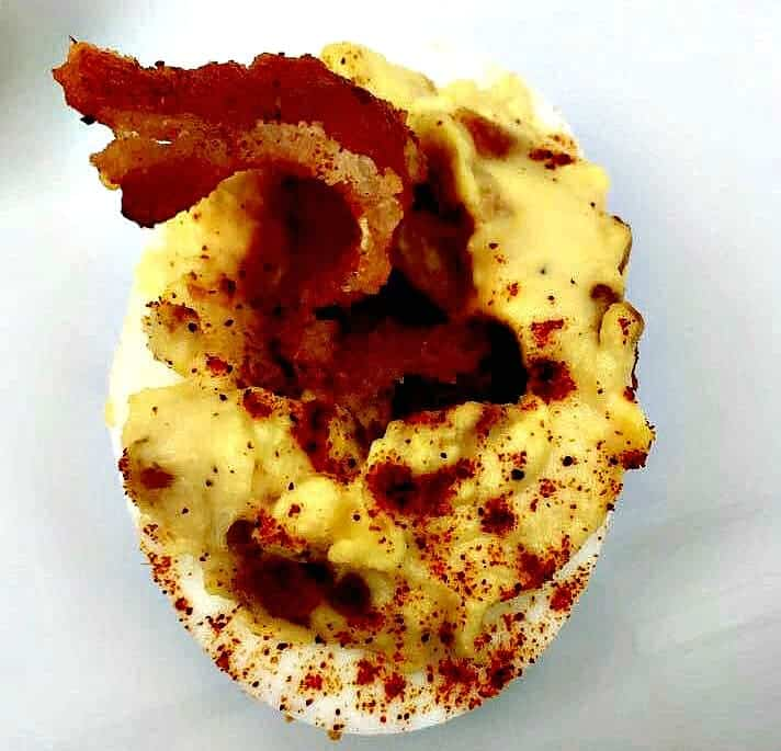 Keto Low-Carb Bacon Deviled Eggs