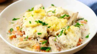 Comforting Crockpot Keto Chicken and Dumplings (Easy Recipe)