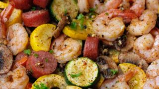 Sheet Pan Cajun Shrimp Boil With Sausage & Veggies Recipe