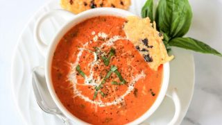 Slow Cooker Low Carb Tomato and Basil Soup