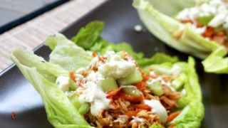 Slow Cooker Buffalo Chicken Lettuce Wraps