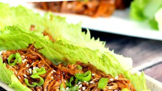 Slow Cooker Beef Teriyaki Lettuce Cups Recipe