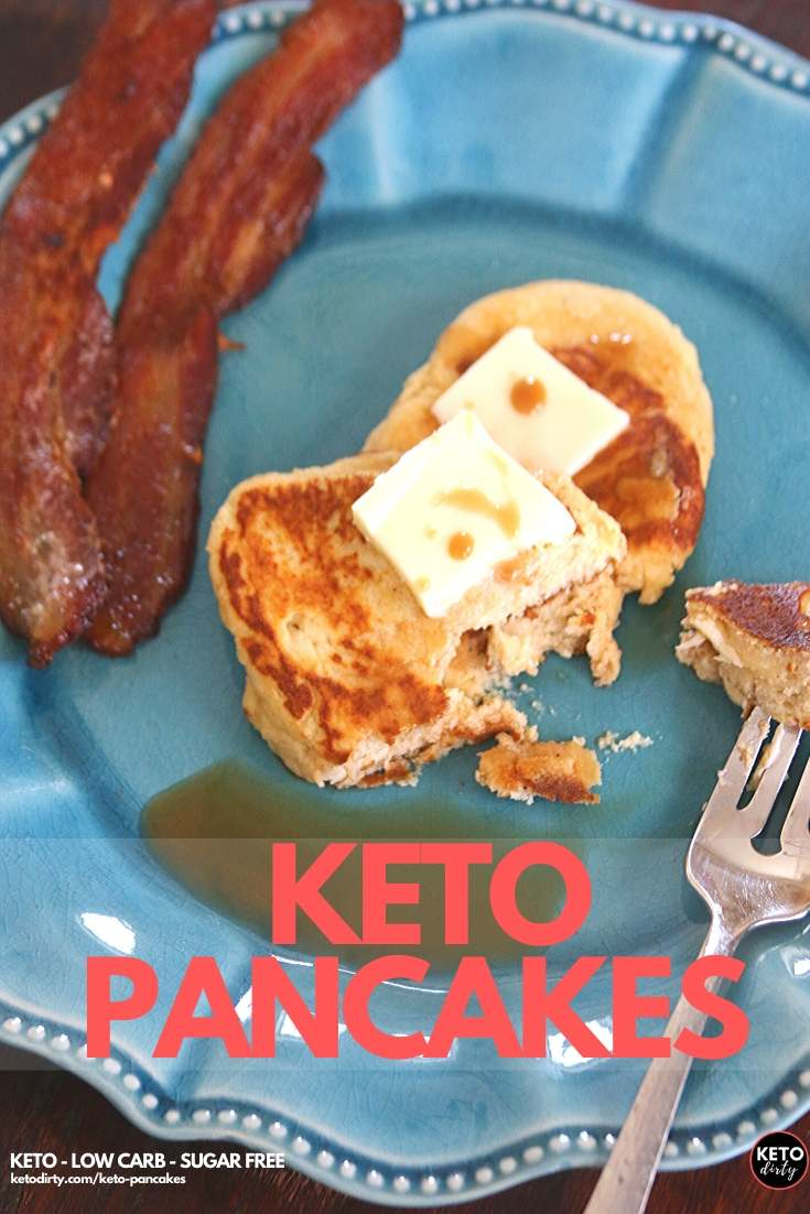 Keto Pancake Recipe - Get ready for the best low carb pancakes ever! Featuring coconut flour and cream cheese, don't miss our secret ingredients that make this keto breakfast recipe TASTY!