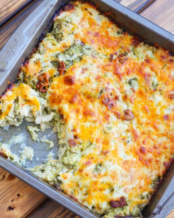 Loaded Keto Cauliflower Broccoli Casserole