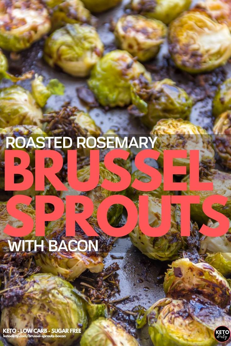 Tasty roasted brussel sprouts with bacon, parmesan cheese and rosemary. This keto recipe is so awesome and makes a great low carb side dish.