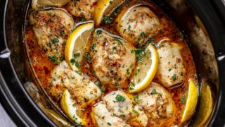 Crock Pot Lemon Garlic Butter Chicken
