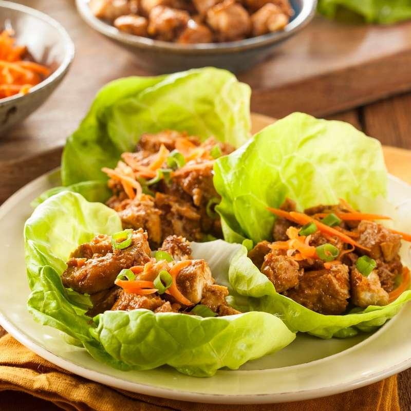 asian keto butter lettuce wraps