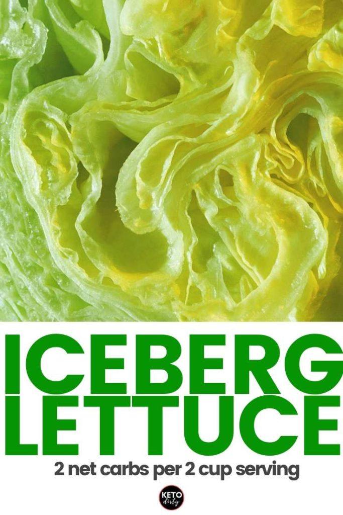 carbs in iceberg lettuce