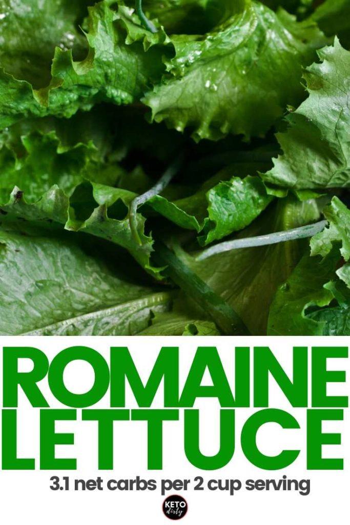 carbs in romaine lettuce