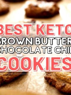 keto brown butter chocolate chip cookies recipe